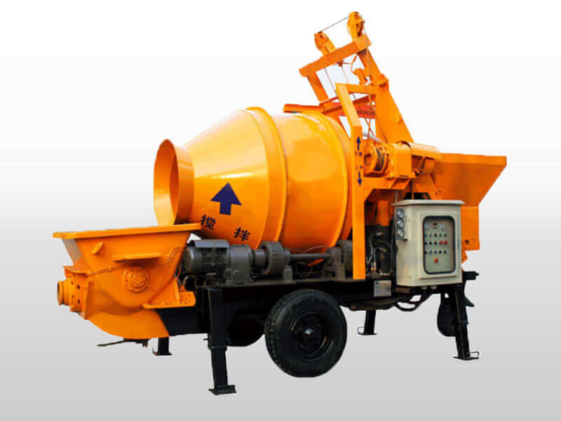 small portable concrete pump with mixer
