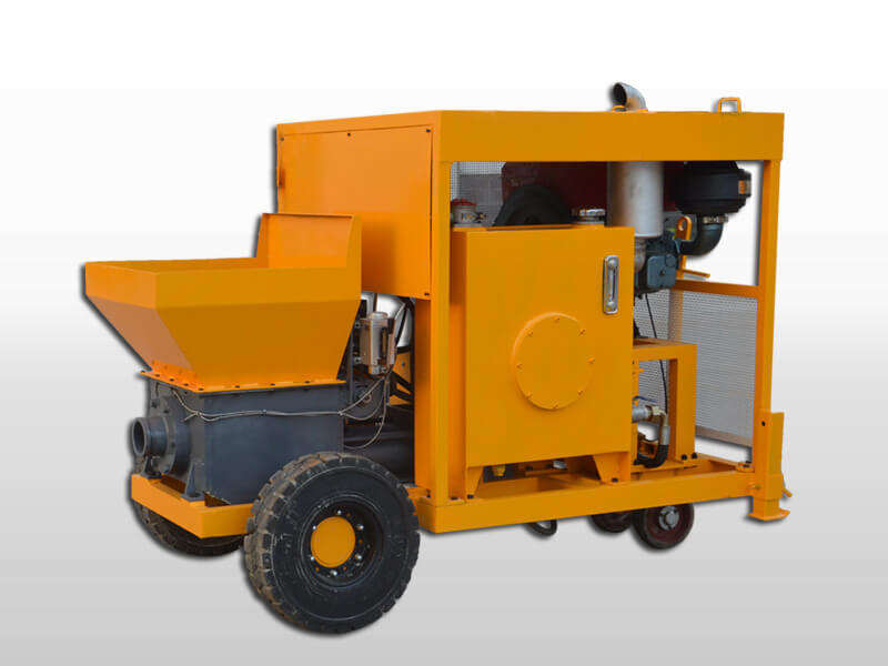 small concrete pump with diesel engine