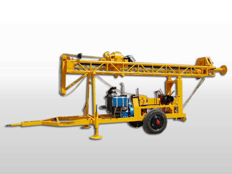 trailer mounted water well drilling machine