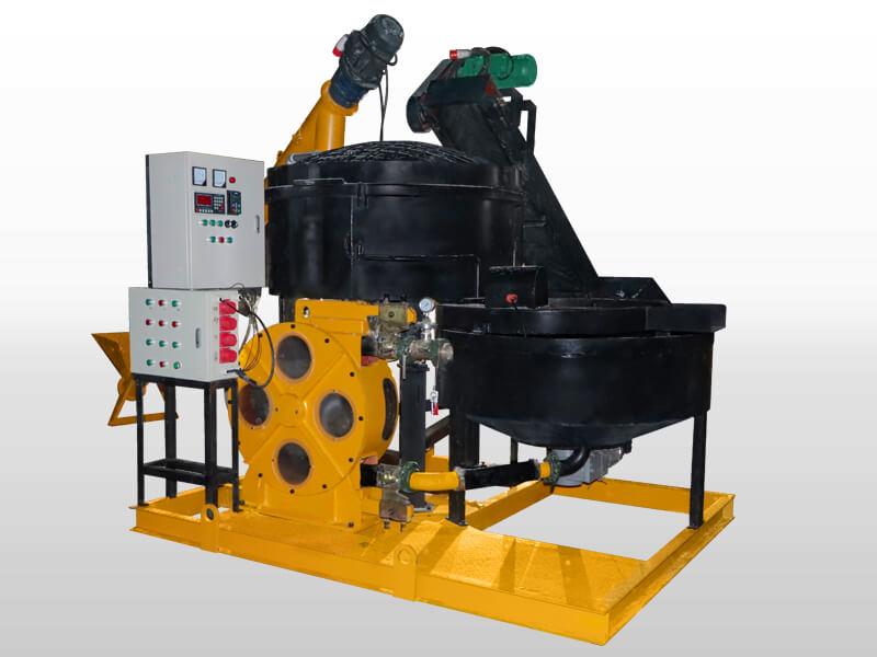 foam concrete machine with auto-weighing system