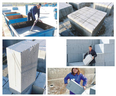 Clc foam concrete machine for making blocks for Cement foam blocks