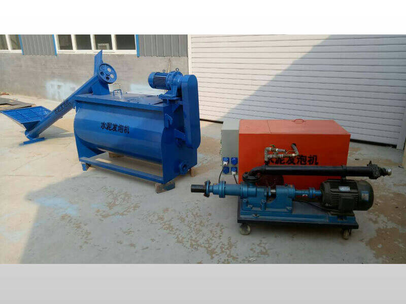 foam concrete machine for roof constructio
