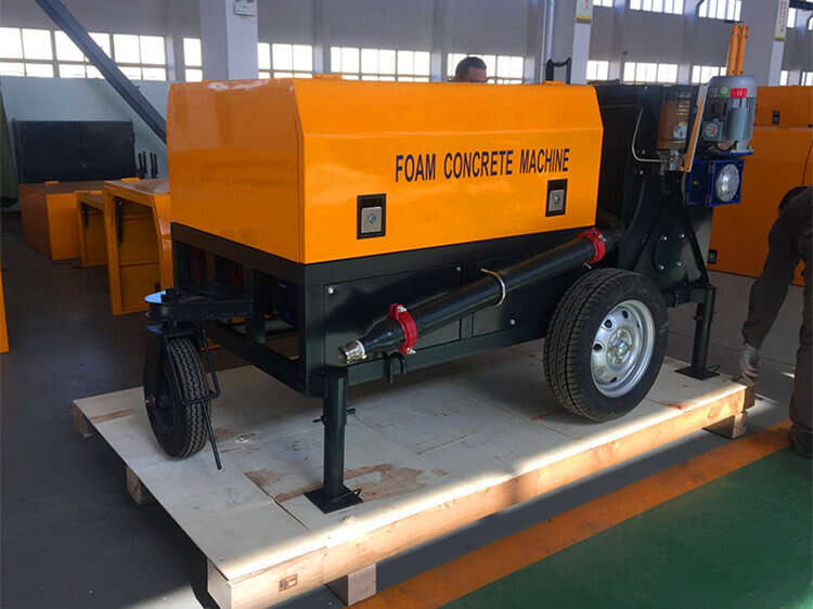 foaming concrete brick machine