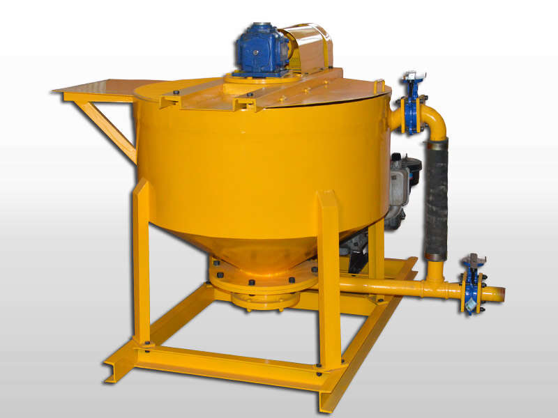 high speed diesel grout mixer agitator