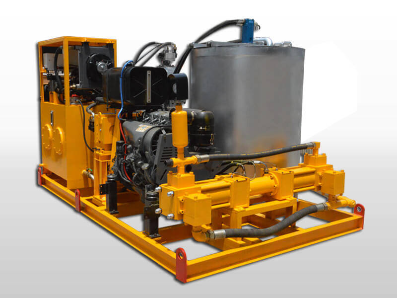 diesel power grout station