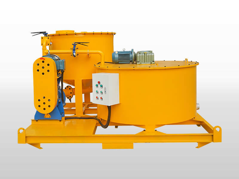 Bentonite cement grout mixer and agitator