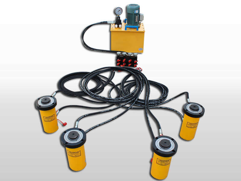 double acting lock nut hydraulic jack
