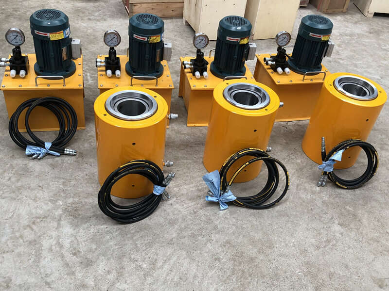 tension hydraulic jack with electric pump