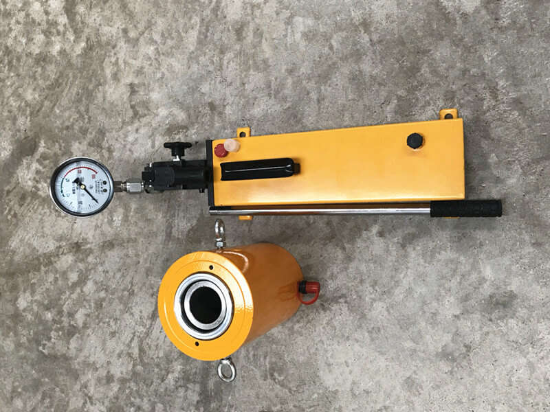 50ton single acting hollow hydraulic jack
