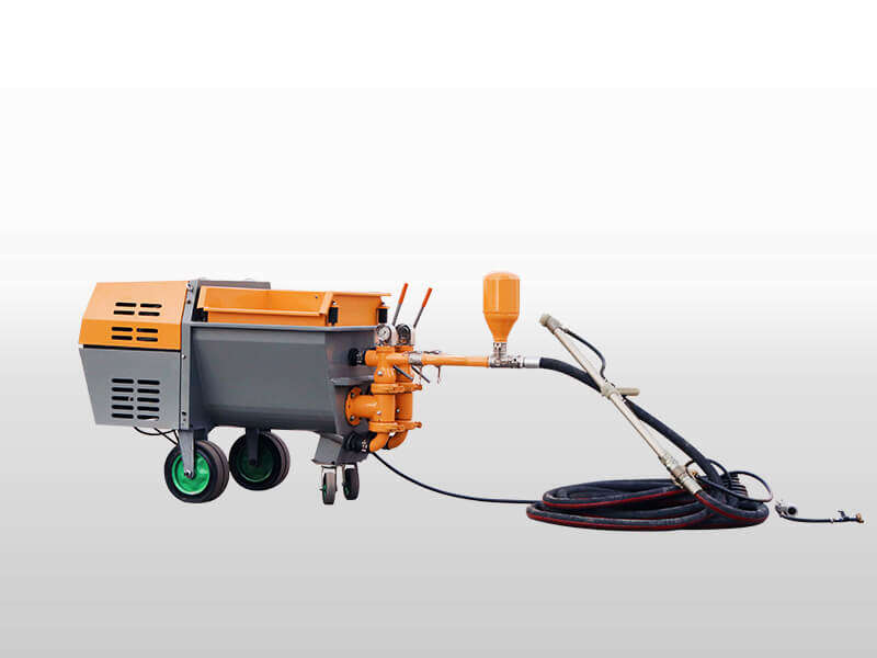 Double piston mortar spraying machine
