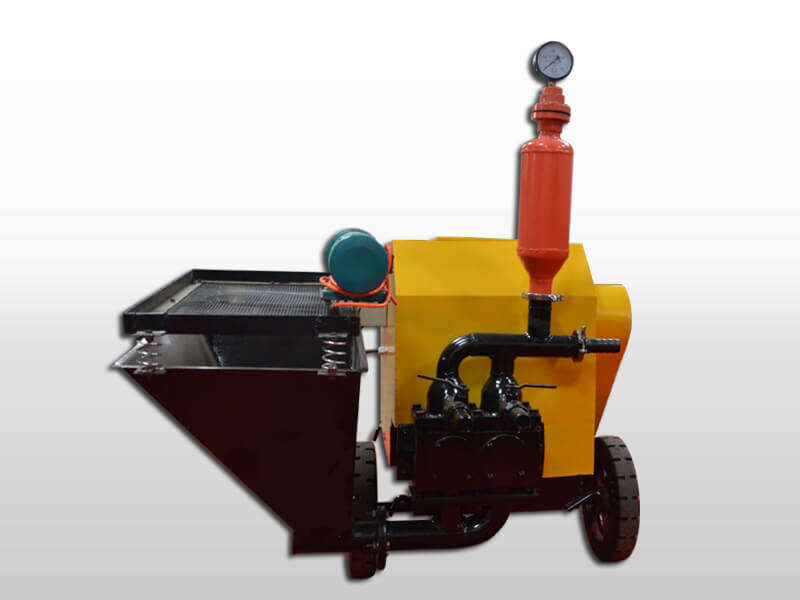 double piston wall plastering machine