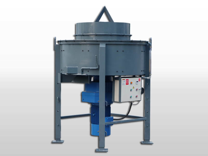 refractory pan mixer for mixing refractory