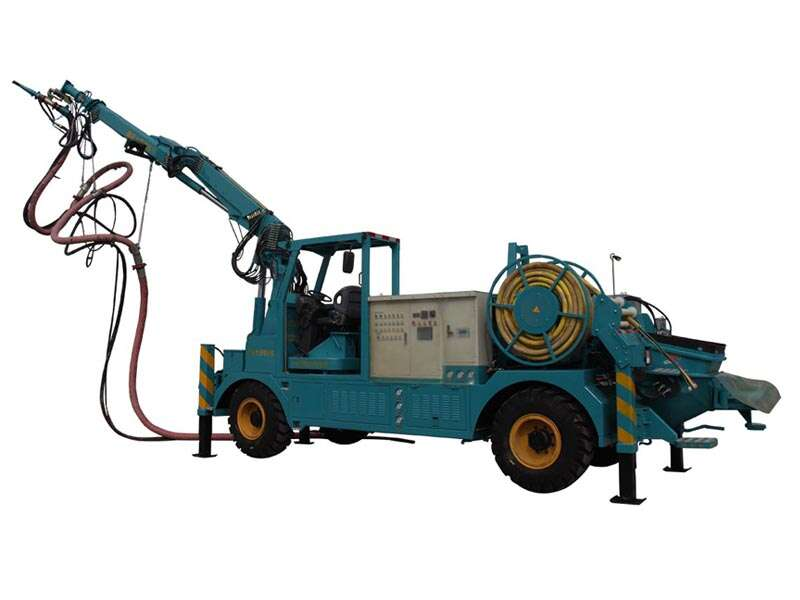 shotcrete machine with robotic arm