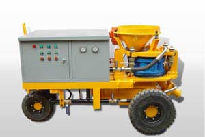 wet-mix shotcreting machine
