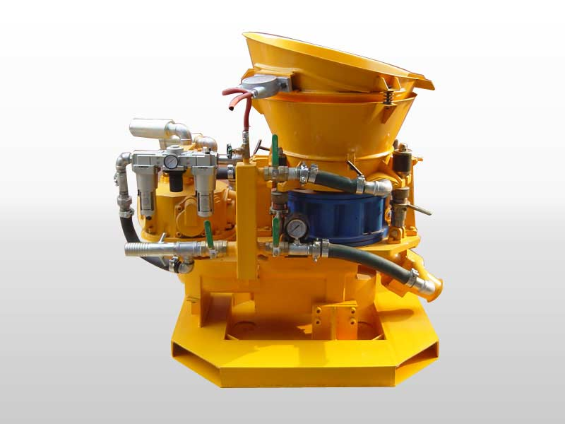 Dry mix gunite machine