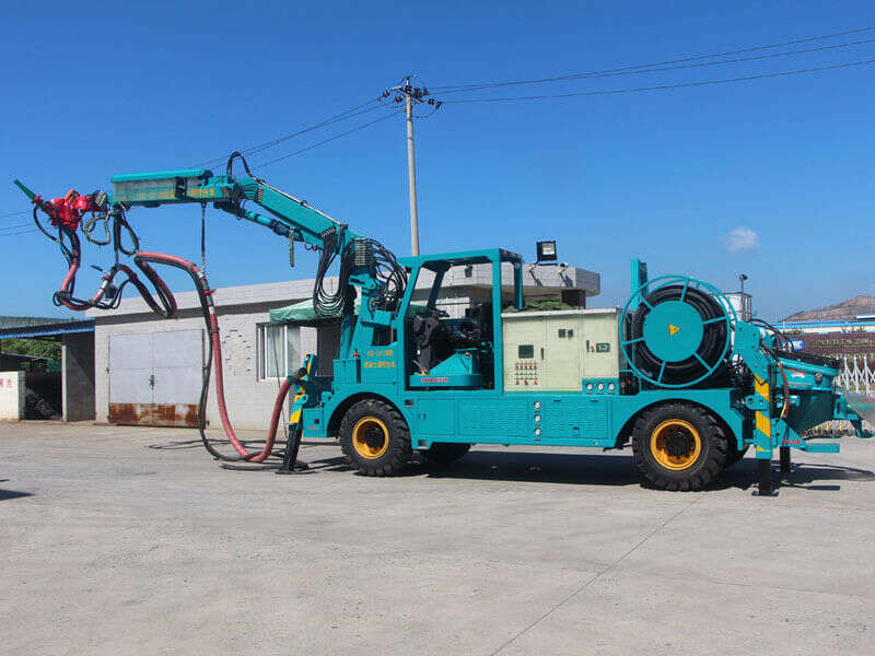 shotcrete machine with arm