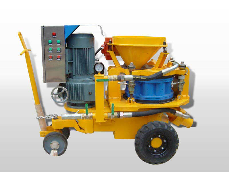 wet mix gunite machine